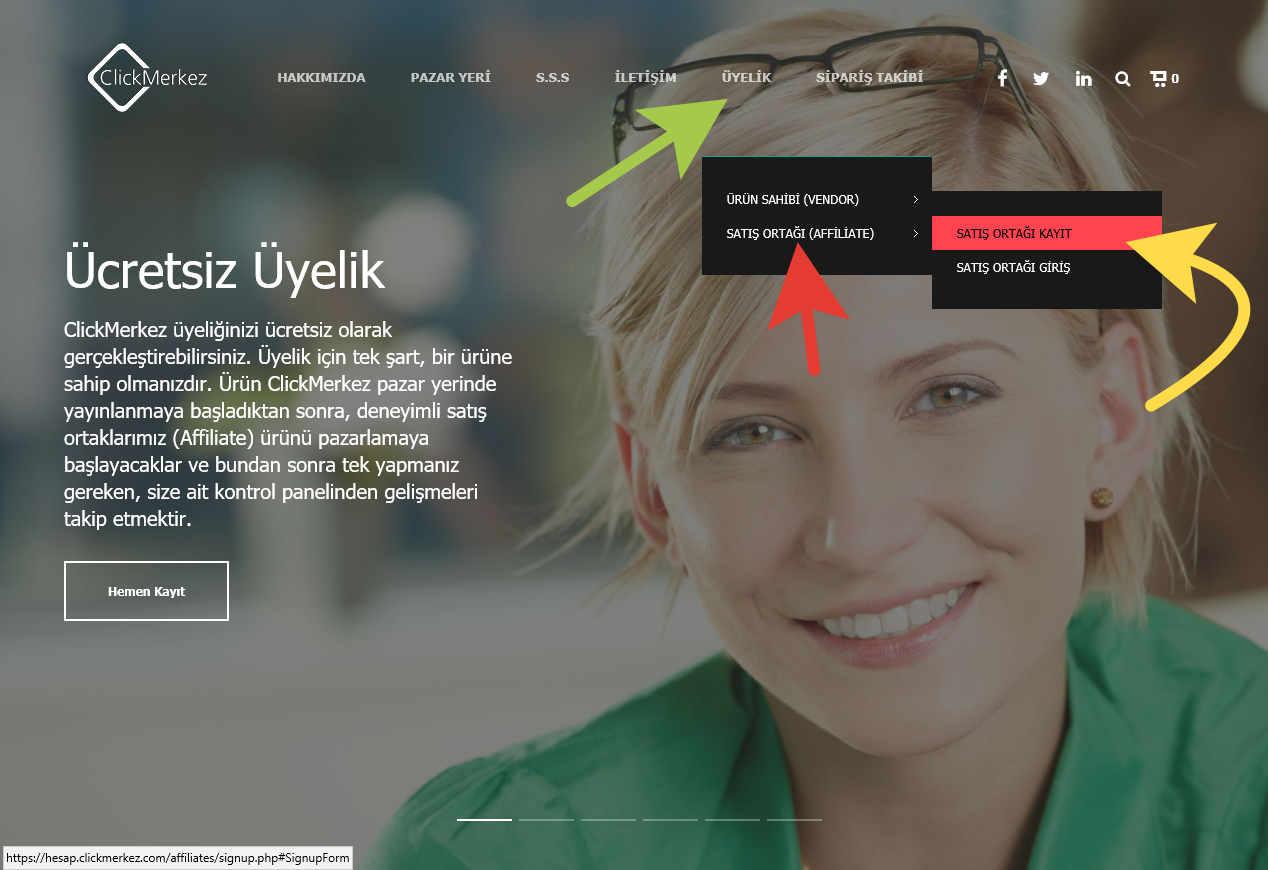 clickmerkez satış ortaklığı kayıt 1
