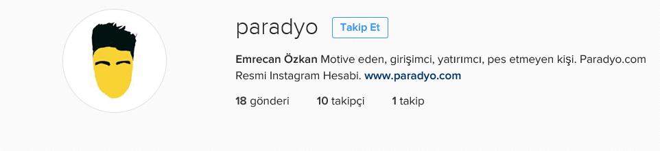 paradyo instagram 10 takipçi