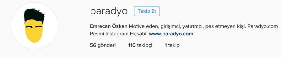 Paradyo 100 takipçi instagram