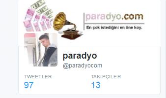 paradyo twitter 10 takipçi