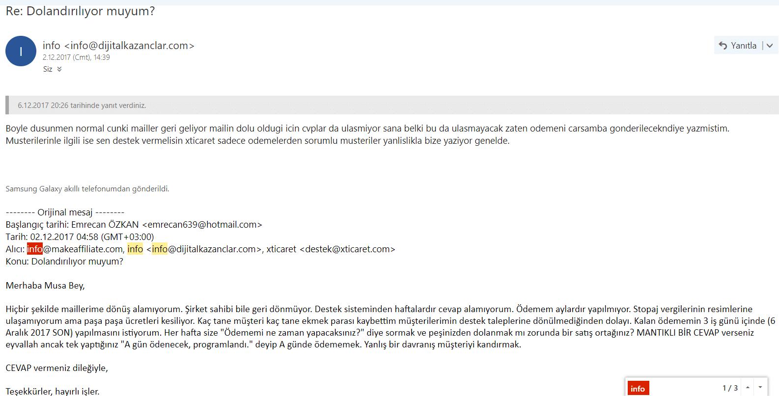 xticaret kapandı mail 2
